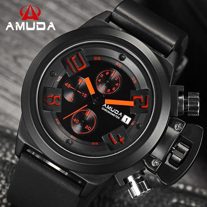 2016 Original AMUDA CHRONOGRAPH 24 Hours Function Men's Quartz Sport Watches Army Military Watch Montre Homme Reloj(China (Mainland))