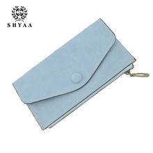 SHYAA 2017 New Korean Matte Wallet Zipper Bag Envelope Small Fresh Mobile Phone Purse Women Bags(China (Mainland))