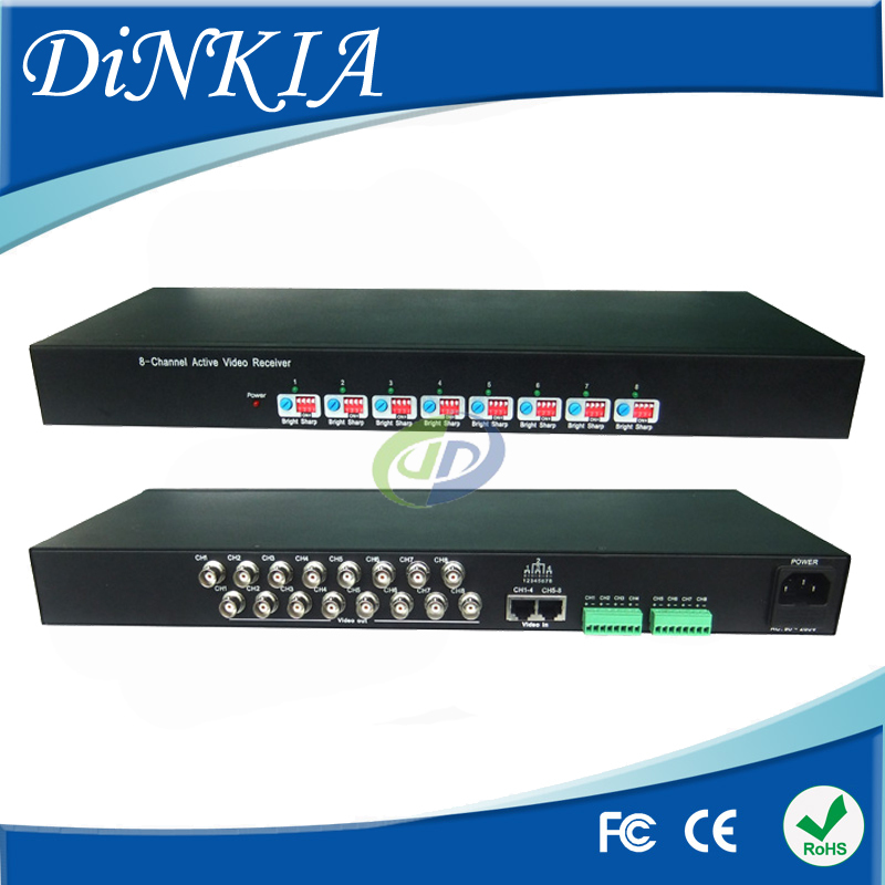 3 Years Warranty 8 channel Active Video Balun for CCTV,BNC to UTP RJ45 Twisted Video Balun aAive Receiver DS-UA0811C(China (Mainland))