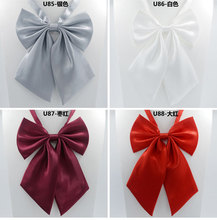 1Piece Korean Style Solid Women's Bow Tie Knot Female Girl Student Hotel Clerk Waitress Butterfly Neck Wear Ribbon Party Club(China (Mainland))