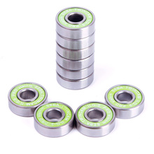 Hot sale 8PCS Stainless Steel Inline Skate Skateboard Bearings For ABEC-9 608RS ILQ-9 #68175(China (Mainland))