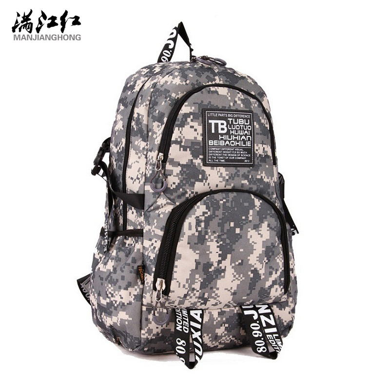 New 2016 Canvas Camouflage Men's Backpack Outdoor Casual Backpacks Laptop Bag Camping Hiking Backpacks Travel Bags(China (Mainland))