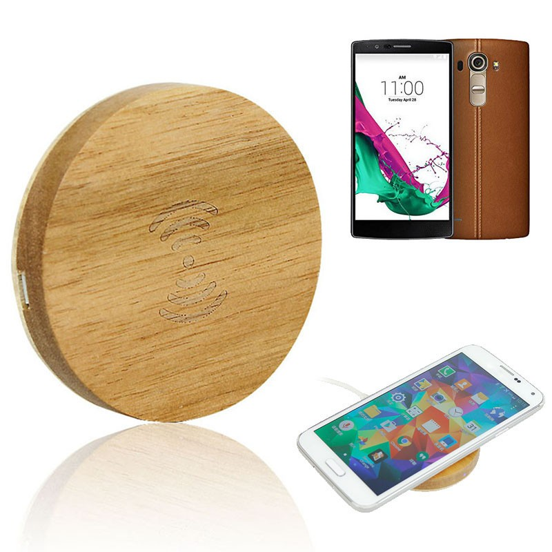 Hot Sale 2016 high quality Wooden Qi Wireless Charger USB phone charger for LG G4 Samsung s6 100% original Wireless Charger pad(China (Mainland))