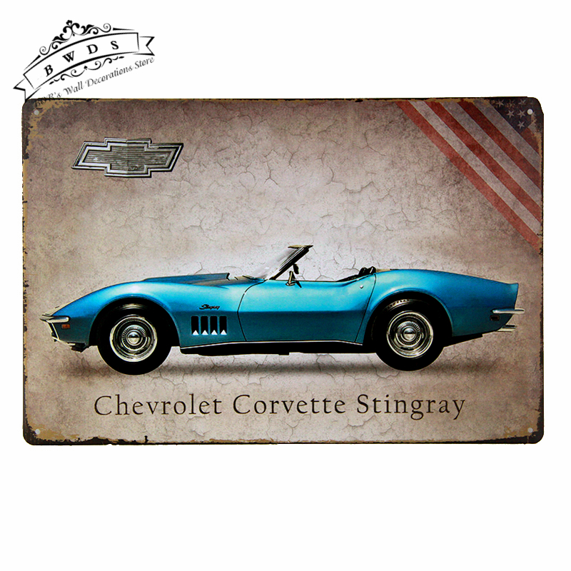 Tin signs Chic Plaque Car Signs Vintage Plate Metal Art iron Paintings Home Garage Wall Decor(China (Mainland))