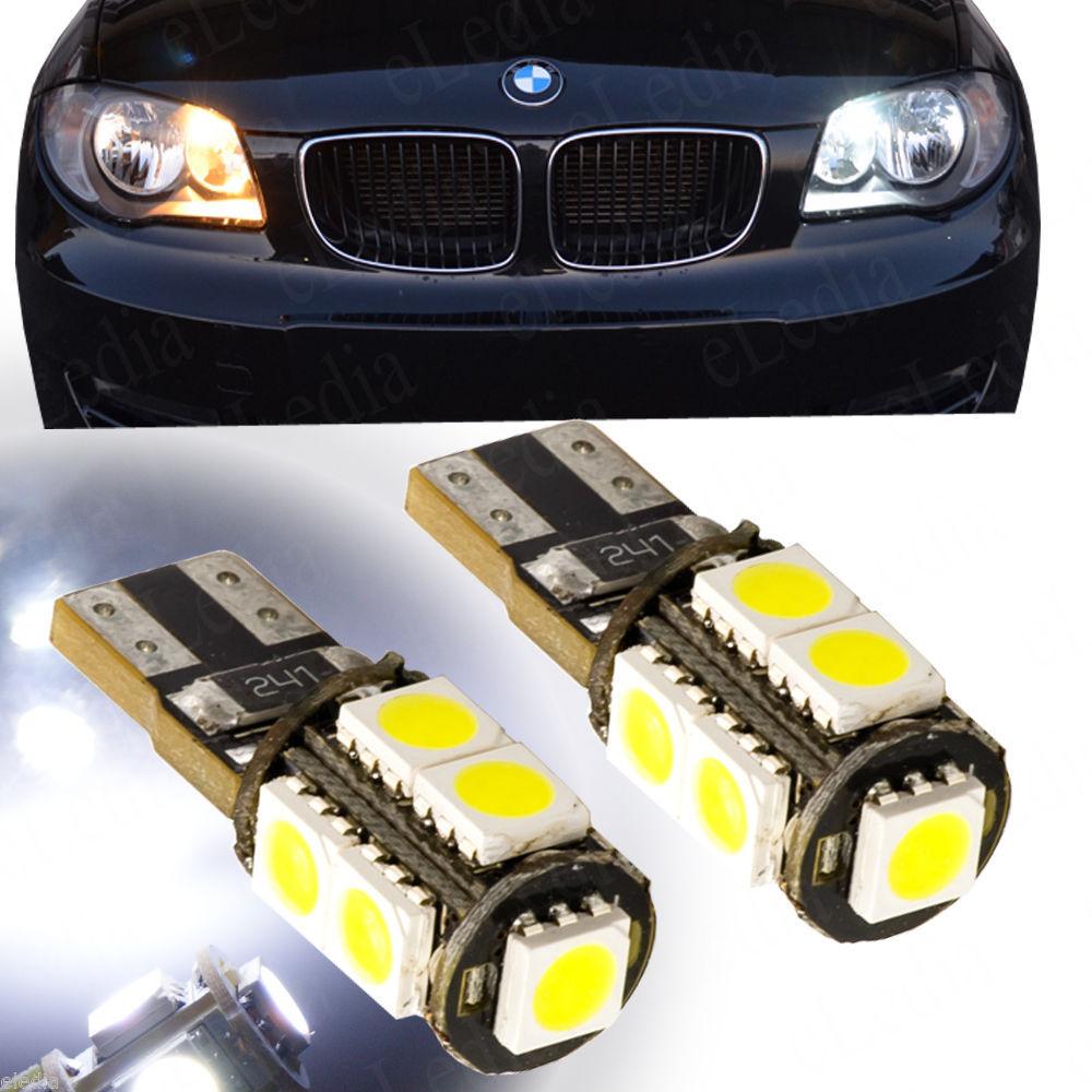 2 шт. T10 168 192 W5W 9 из светодиодов 5050 СМД canbus нет ошибки OBC маркер лампы для чтения двигателя габаритные огни белый синий 12 В 2 X