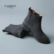 2016 Winter Chelsea Genuine Leather Women Boots Matte Platform Flat Women's Boot Shoes Black Grey Brown Ankle Boot Size 40 ZK2.5(China (Mainland))