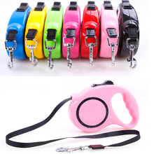 Buy 3M 5M Length 7 Color Pets Dogs Cat Retractable Leash Lead Medium Small Pet Dog Extending Puppy Walking Leads Fishion chien for $8.19 in AliExpress store