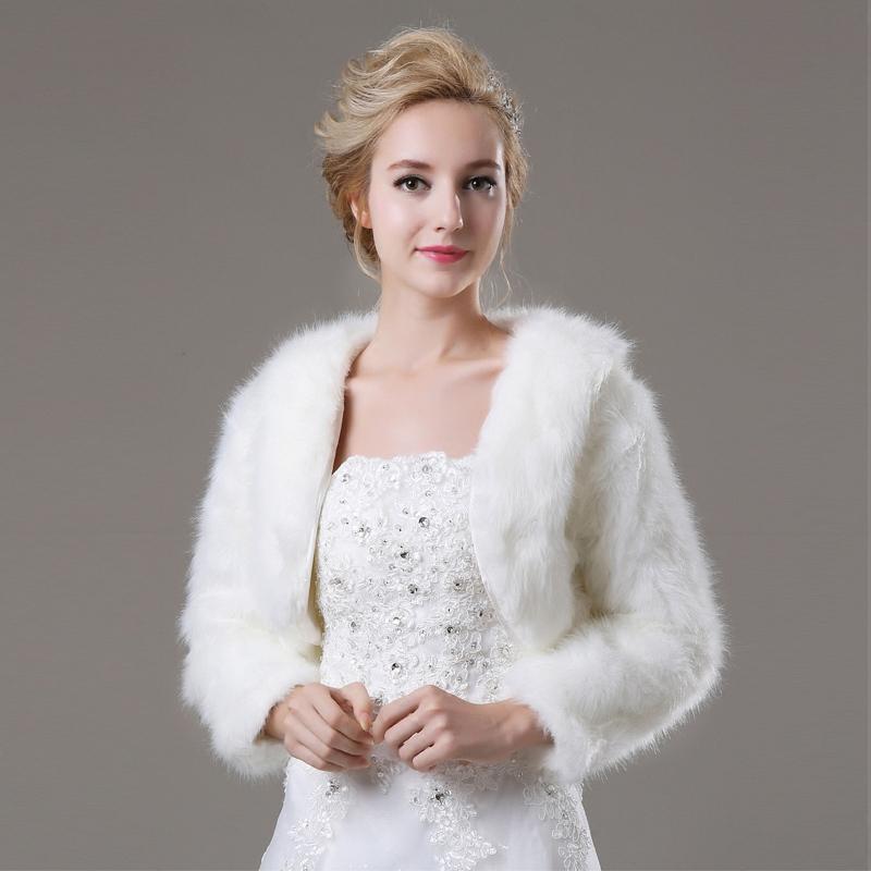 Платье с белым мехом