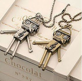Wholesale price, robot Necklace with diamond,delicate Necklace, jewerly,pendant,
