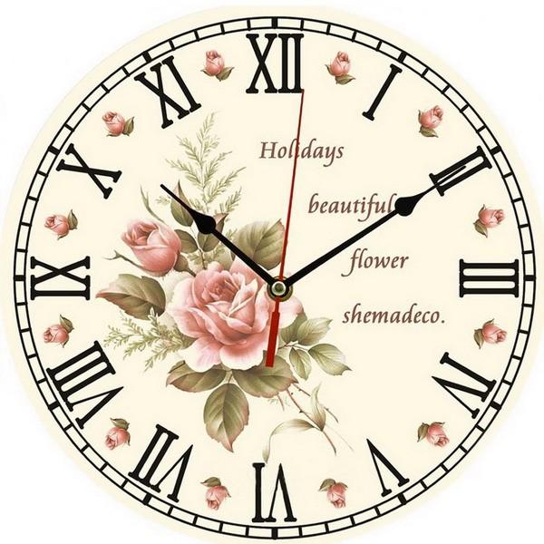 ᗖ1 PC Vintage Wooden Wall • Clock Clock Modern Design ᗗ ...