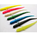 10pcs 7cm Mudfish Jelly Worm Soft Plastic Artificial Lure Grub Glow Lure 7 Colors Optional