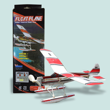 Free Shipping Float plane rubber powered model airplane children gift DIY Assembly Glider Model Educational Toy puzzle Aircraft(China (Mainland))