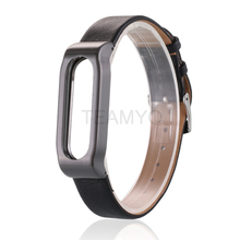 Mijob Adjustable Leather Strap Belt For Xiaomi mi band 1s Pulse Strap Smart Bracelet Wristband Replaceble (Not Include Host)