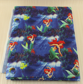 41551 50*147cm cartoon the little mermaid fabric patchwork printed cotton fabric for Tissue Kids Bedding home textile