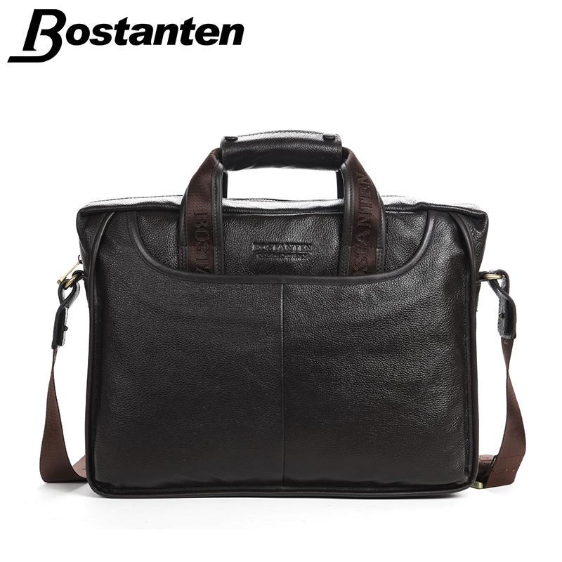 Bostanten 2016 New Mans Formal Messenger Bags Zipper Genuine Leather Medium Solid China Handbag Business Briefcase Promotion<br><br>Aliexpress