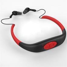 Waterproof Sports FM Radio MP3 Music Player Stereo Audio Underwater Music Player Neckband Swimming with Waterproof Headset(China (Mainland))