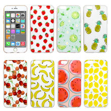 Fruit Style Cellphone Cover Case Ultra-Thin TPU Soft Silicone Mobile Phone Protector Shell for iPhone 5 5S 5SE 6 6S Plus