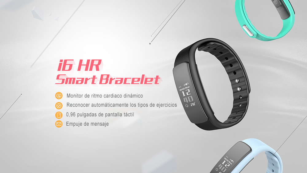 IWOWNFit i6 HR Smart Band Bracelet Heart Rate Monitor Fitness Tracker Activity Smartband IP67 Waterproof for Android IOS Phone