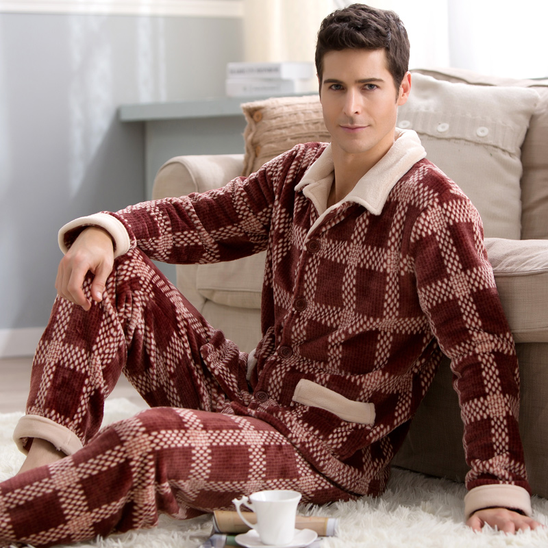 Popular Winter Pajamas Men-Buy Cheap Winter Pajamas Men lots from ...