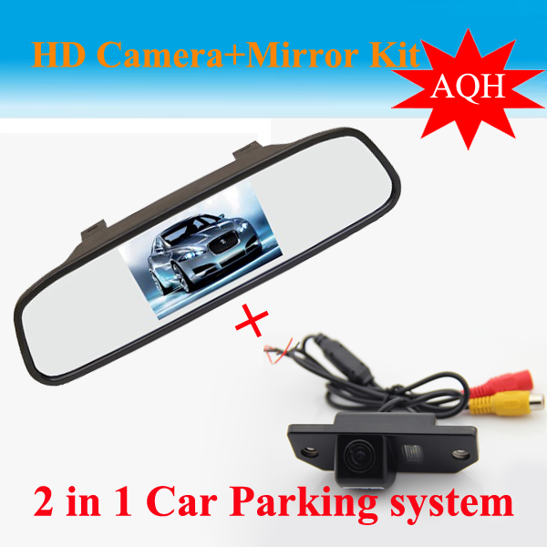 For Ford Focus 2 sedan Auto Parking Assistance 2 in 1 4.3 inch Digital LCD Mirror Car Parking r + Car Parking Rear view Camera<br><br>Aliexpress