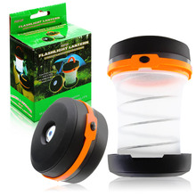 Multifunction 3 Colors Retractable 5 LED Outdoor Waterproof Camping Lantern Portable Mini Tent Light Emergency Lamp(China (Mainland))