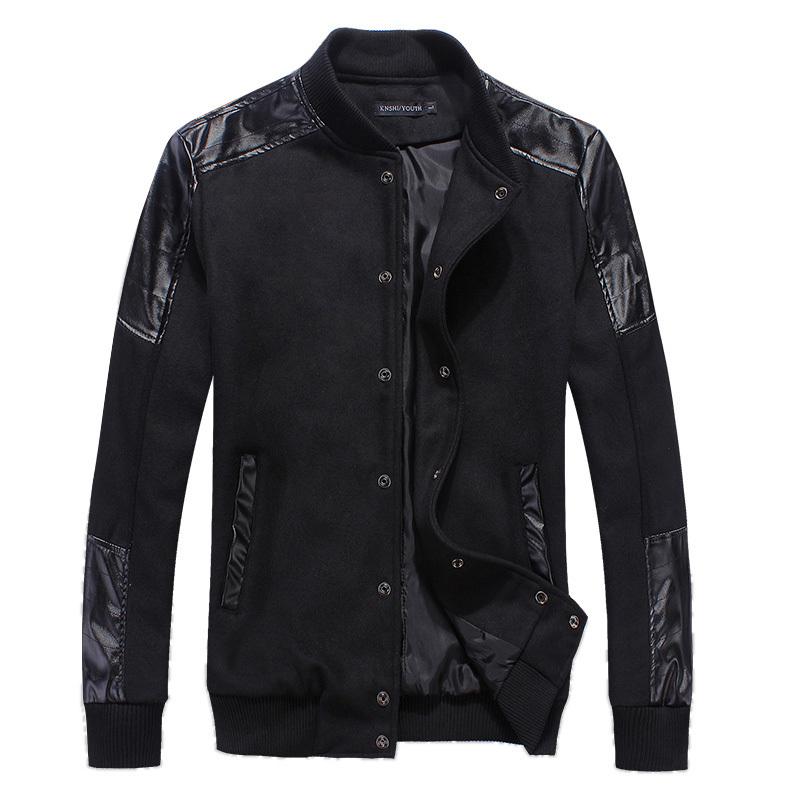 New autumn men casual jacket suit men's slim fit mens jackets and coats leather casaco masculino jaqueta stylish baseball jacket(China (Mainland))