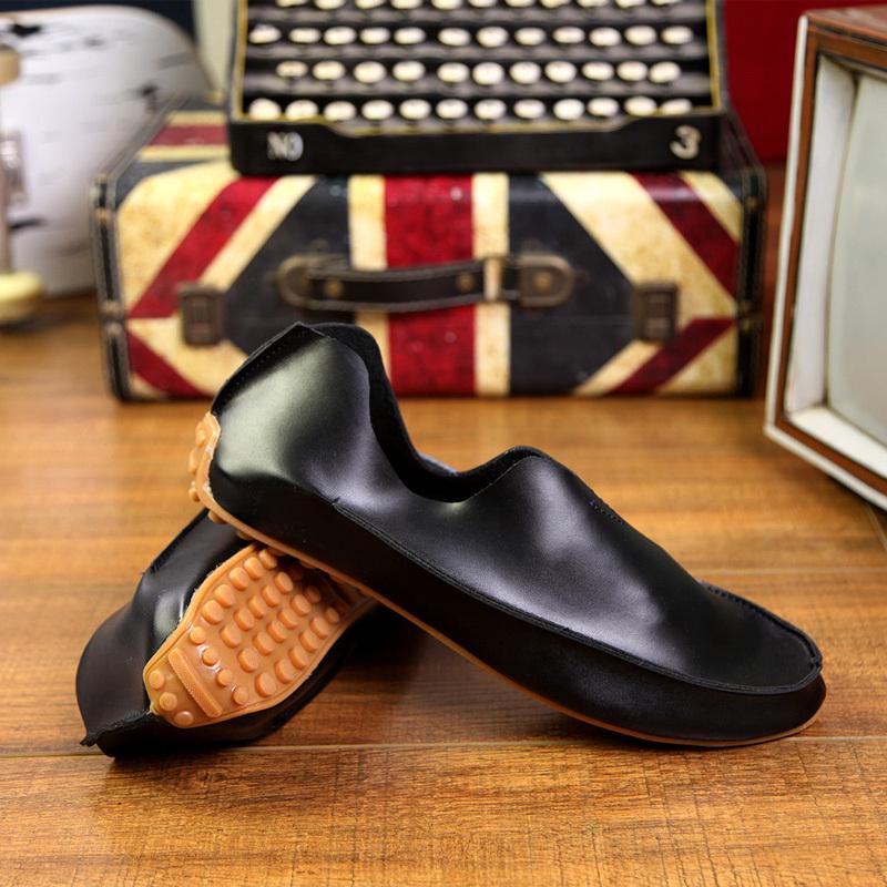 new 2015 mens leather mens rubber fashion flat platform