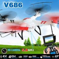 WL V686 5.8G FPV Live 720P Video with 2MP HD Camera 2.4G 4CH 6-Axis GYRO RC Quadcopter VS JJRC H9D Hubsan H107D Ar.Drone