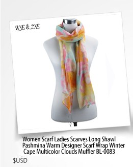 2017 Fashion Shawl Colourful Print  Scarf Warm Luxury Brand Top Quality Warm Winter  Hot Sale Neckwear For Women BL-0091