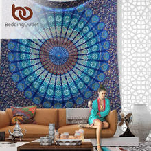 BeddingOutlet Vanitas Mandala Tapestry Moroccan Indian Printed Decorative Wall Tapestries White 140x210cm Drop Shipping(China (Mainland))