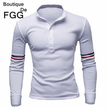 Size M-XXL WhiteBlue Men Patchwork Colorful Belt England Brand Fashion Solid Polo Shirts Long Sleeves Slim Fit Free Shipping
