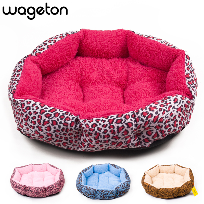 Hot sales NEW Colorful Leopard print Pet Cat and Dog bed Pink Blue Yellow Deep pink