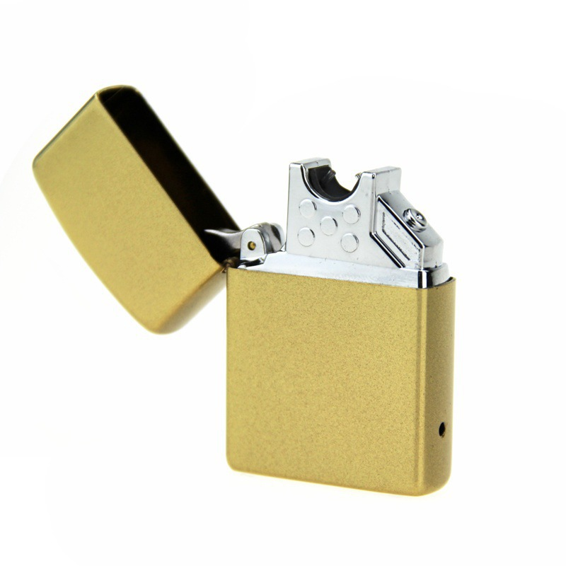 Fashion Rechargeable Cigar Electronic Cigarette USB Lighter Windproof Metal Charging Pulse arc lighters Gift Box
