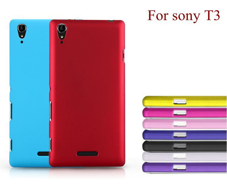 T3 telephone Mobile Case Coque Colorfull Matte Frosted Hard Plastic Back Cover For Sony experia Xperia T3 M50W D5103 D5106 np204(China (Mainland))