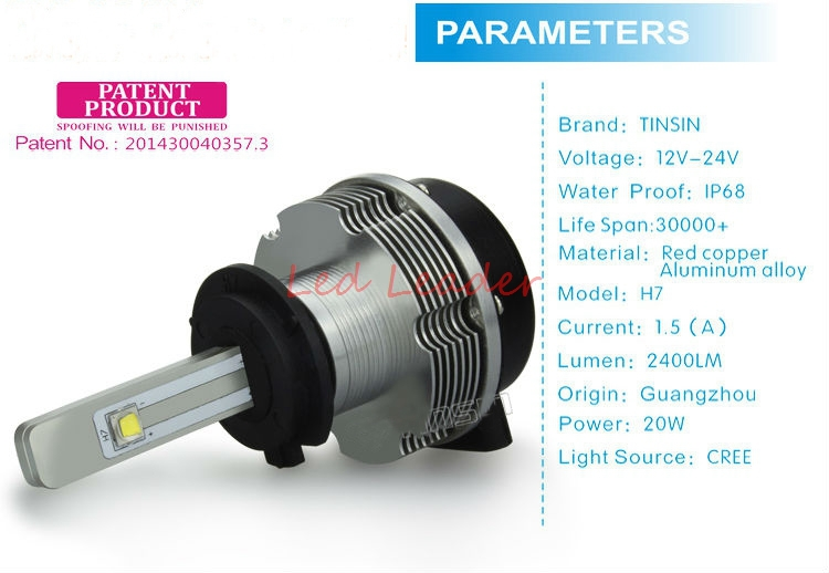 2015 Plug&Play 40W 4800LM 9006 HB4 Kit CREE LED Headlight 20W 2400LM Bulbs x2 H1 H3 H7 H8 H9 H11 9005 HB3 Auto Foglight Headlamp(China (Mainland))