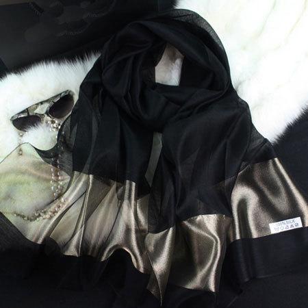 2016 новый шелковый шарф женщин 20 цвет мода черный шить золотая шелковый шарф шелковые шарфы хлопка платки бренда wj0120