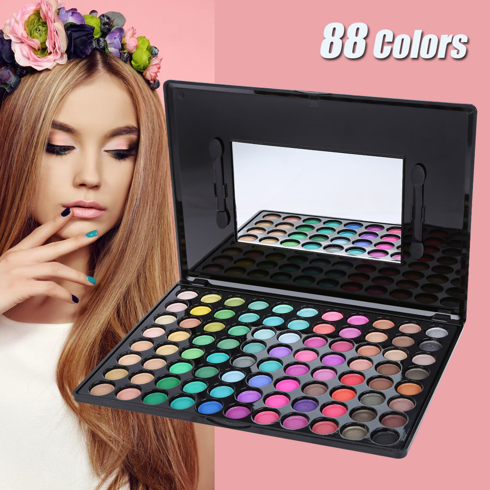 88 Color Nature Eyeshadow Palette Makeup Set Professional Eye Shadow Box Cosmetic Eyeshadow Makeup Palette Facial Beauty 1440488(China (Mainland))