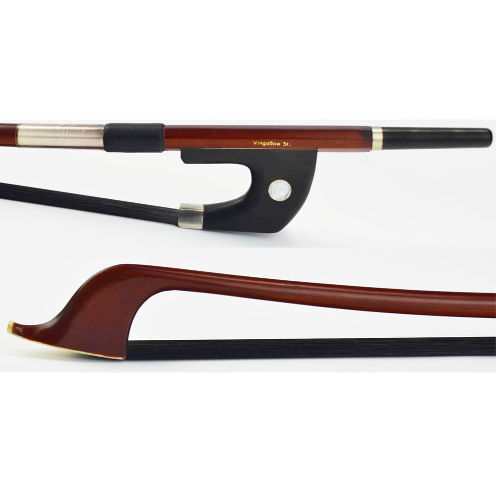 4/4 Size NEW Brazilwood Material German Model Upright Double Bass Bow! Wonderful Flexibility and All Parts Professional Mounted(China (Mainland))
