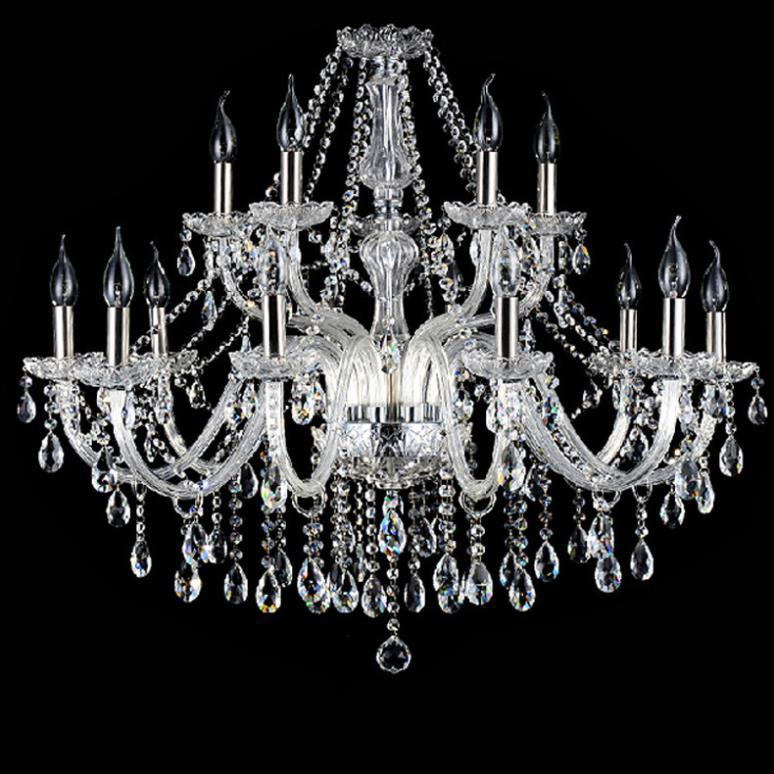 15 Arms luxury modern led crystal chandelier E14 ceiling fixtures bulb chandeliers K9 Clear Crystal Chandelier AC110v 220v(China (Mainland))