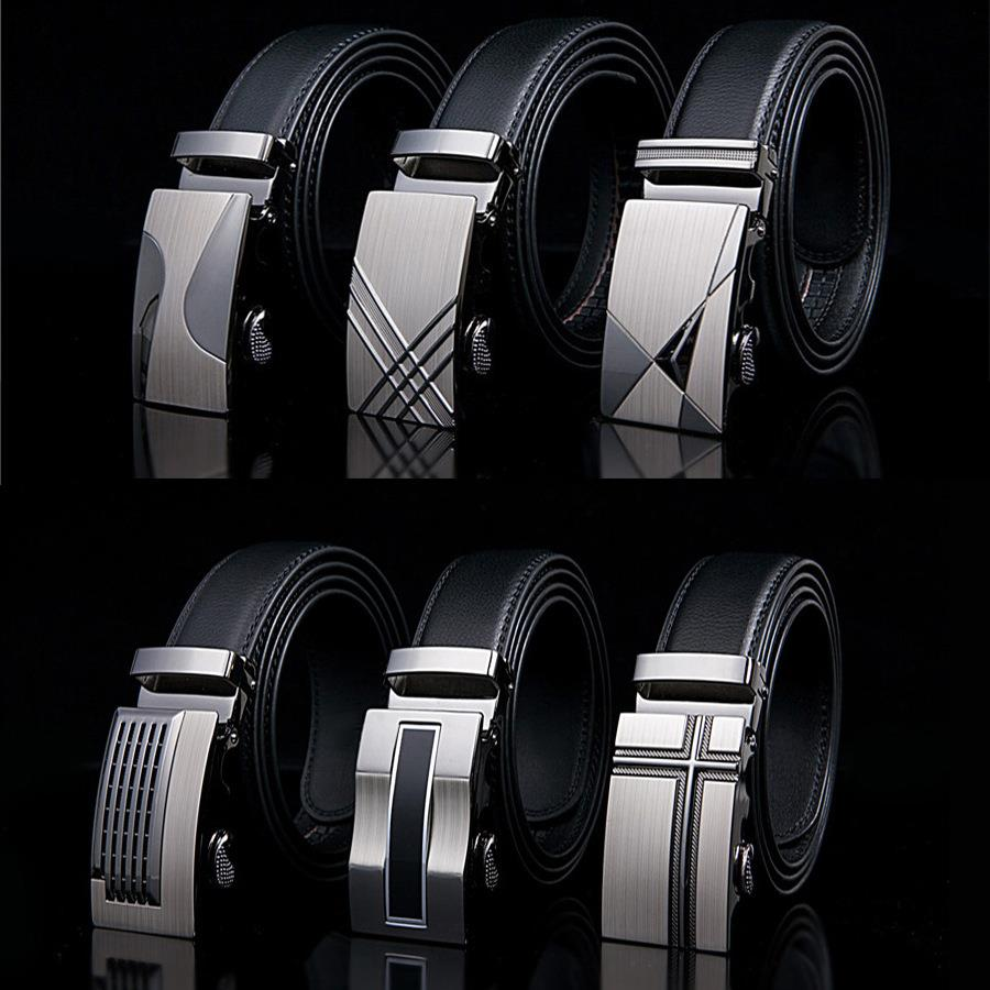 Belt 2015 new arrival men automatic buckle brand new fashion leather belts for business men high quality luxury for man(China (Mainland))