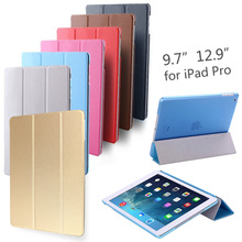 "PU Leather Smart Case for APPLE iPad Pro 9.7"" 12.9"" Tablet Protective Cover Case Stand for iPad Pro 9.7 12.9 inch Free shipping(China (Mainland))"