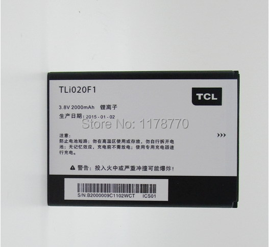 In Stock+Track Code 1 PCS TLI020F1 Battery Original Battery for TCL J720T J726T Batterie Batterij Bateria Batteriescell Phone
