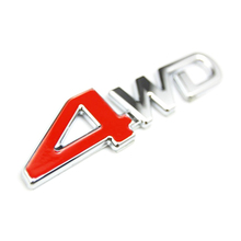 Car Tail Rear Side Metal 4x4 RC Car 4WD Sticker 3D Chrome Badge Car Emblem Badge Decal Auto Decor Styling 4WD Red for SUV Trunk(China (Mainland))