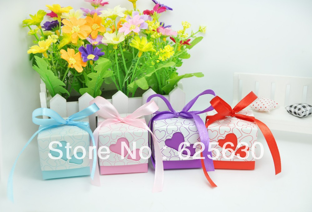 2016 10s wedding favors boxes,paper box,favour gift,heart candy box (With ribbon) - Health & Life store