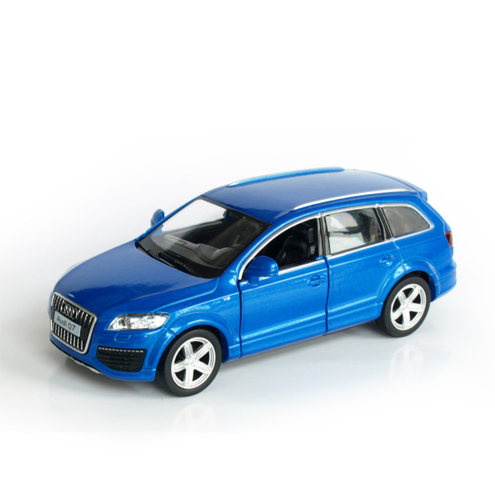 RMZ City Audi Q7 GZ554016 1/32-36 Scale 5 Inch Diecast Vehicles Model Car Toys Best Gift for Children White Blue(China (Mainland))