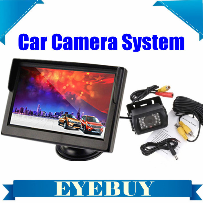 Automotive Car truck auto Rear View System Backup reversing Camera nightvision 5INCH car parking Monitor rearview camera system(China (Mainland))