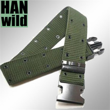 Buy Spring men black military belt sport military brand army pants climbing camping hiking survival black outdoor belt for $2.40 in AliExpress store
