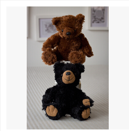 Ultra-low-cost foreign trade of the original single black mouth brown teddy bear sitting doll stuffed toy models couple a gift(China (Mainland))