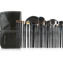 New Arrival 32pcs Black Cosmetic Brush Kit Tool Professional Makeup Brushes Set With PU Leather Case