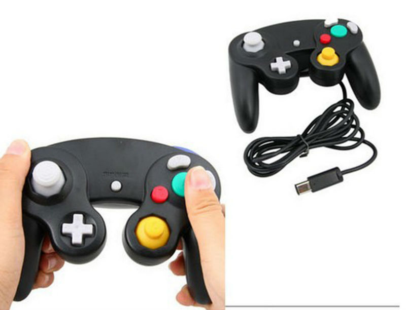 Black For NGC Controller/Handle For GameCube Video Game Player Parts&Accessories Free Shipping(China (Mainland))